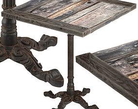 3D Square Vintage Restaurant Table