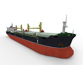 Bulk carrier lowpoly 3D asset