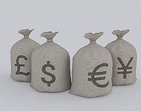 Money Bag 3D asset game-ready