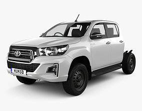Toyota Hilux Double Cab Chassis SR 2019 3D