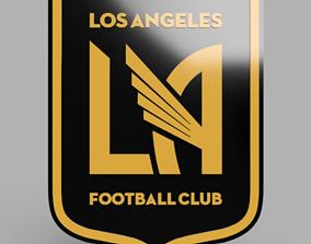 Los Angeles football club emblem 3D