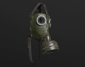 3D model VR / AR ready Gas Mask