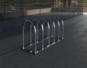 Diagonal bike parking 3D asset