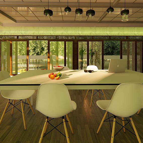 DINING AREA DESIGN AND RENDER IN LUMION 8.0 PRO