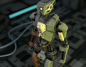full rigged robot 3D