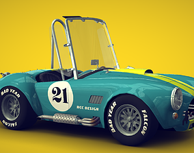 Cartoon Car Shelby Cobra 3D model
