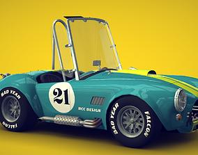 Cartoon Car Shelby Cobra 3D model
