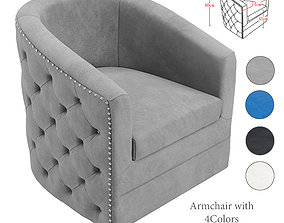 3D Arm Chair - Velci Swivel Accent Chair