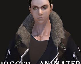 3D asset RPG Knight Character Man B