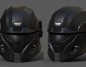 Helmet scifi futuristic space millitary combat 3D model 1