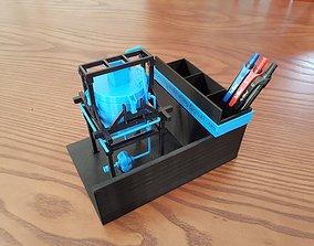 3D print model Mixing Tank and Hopper -Pen Holder