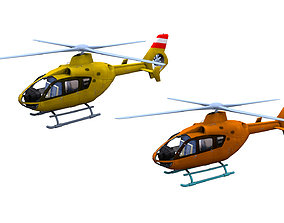 H145 Light twin Airbus Low-poly 3D asset