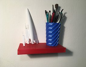 shelf with secret drawer 3D print model
