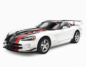 Dodge Viper SRT 10 ACR 2009 3D asset