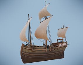Herring Buss Ship 3D model