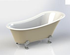3D Clawfoot bathtub