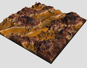 Detailed Desert Model 3D asset