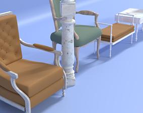 3D model Louis XIV Furniture Pack