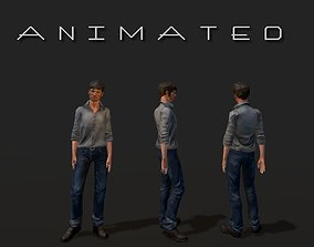 Low-poly Man 3D asset animated