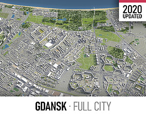 Gdansk - city and surroundings 3D asset