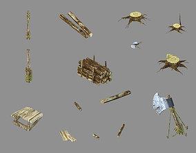 Dynasty Lumberyard - Parts 024 3D model