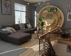 Interior 3D scene