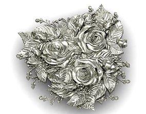 beautyful panel roses 3D print model