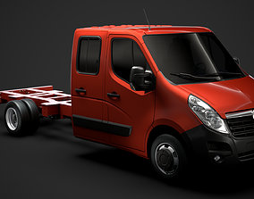 3D model Vauxhall Movano CrewCab DW E30 Chassis 2014