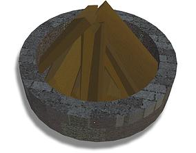 Fire pit 3D model realtime