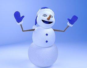 3D Snow MAN RIGGED
