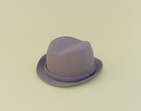 3D model brown hat