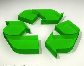 Recycling logo 3D