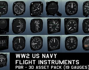 WW2 US NAVY FLIGHT INSTRUMENTS - ASSET PACK 3D model