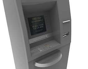 Cash machine 3D asset