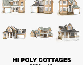 Hi-poly cottages collection vol 13 3D