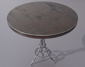 3D model low-poly Old Scratchy Table