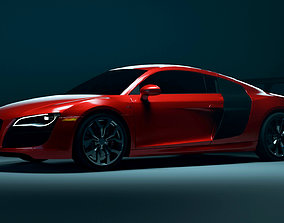 Audi R8 Low Poly game ready VR AR 3D asset realtime