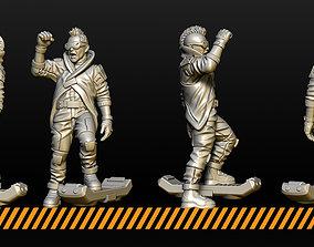 Cyberpunk civilians 3D printable model