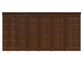 Wood panels 06 3D asset