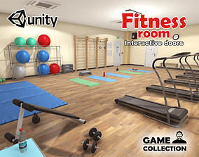 3D asset animated Fitness Room