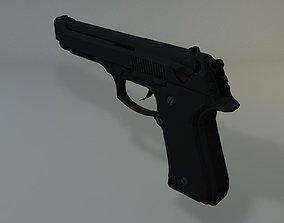 Low Poly Beretta M9 3D asset