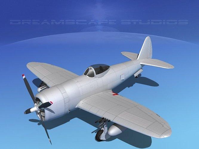 republic-p-47d-thunderbolt-bare-metal-3d