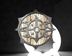 3D model VR / AR ready Medieval shield