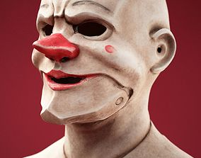 Stylised Scary Clown Mask 3D asset