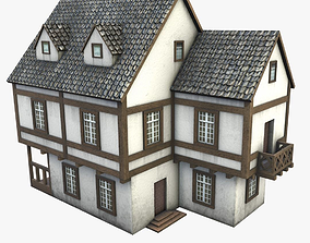 half-timbered house 3D model