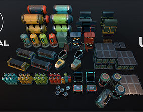 Sci-Fi Objects Pack 3 3D asset