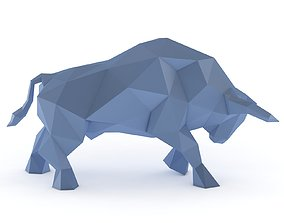 Low Poly Bull - Printable 3D