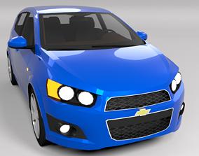 3D model CHEVROLET AVEO SONIC LOWPOLY