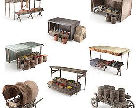 ancient market 3D model realtime
