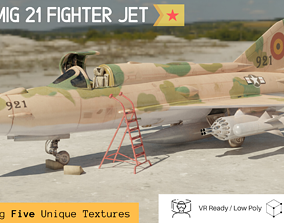 3D model MiG 21 - Rigged and Animated - with Interior - M4